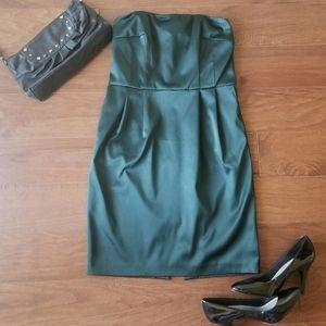 Express Design Studio Emerald Strapless Dress NWT
